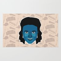 seinfeld Area & Throw Rugs featuring Elaine Benes - Seinfeld by Kuki