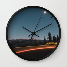 Mountains in the Moonlight Wall Clock