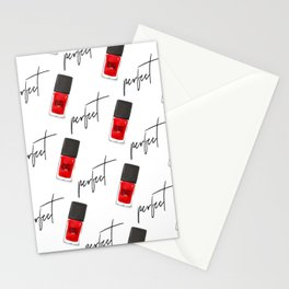 perfect nail polish Stationery Cards