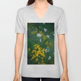Flowers On the Edge Unisex V-Neck