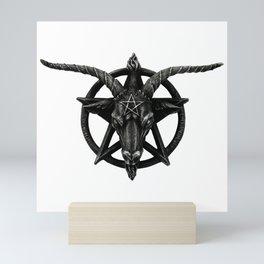 Baphomet Satanic Church Goat Head Mini Art Print