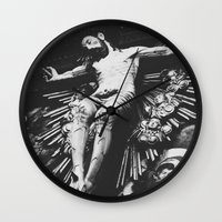 jesus Wall Clocks featuring Jesus by Dash Kadam