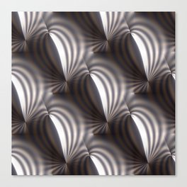 Push and squeeze with misty stripes Canvas Print