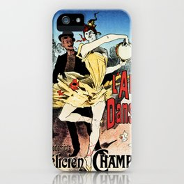 The ballerina lover 1888 by Chéret iPhone Case
