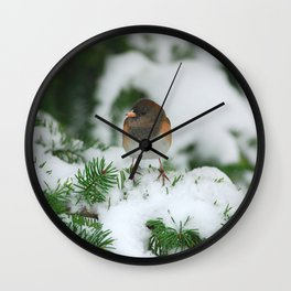 Junco In The Snow... Wall Clock