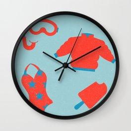 Happy Sunny Holidays Wall Clock