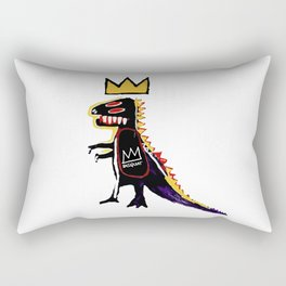 Basquiat Dinosaur King Rectangular Pillow