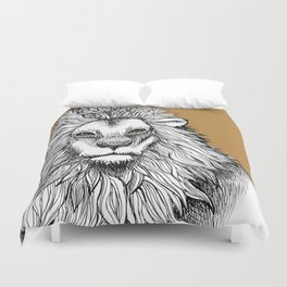 Lion Brown Duvet Cover