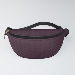 Dark Merlot Wine Circle Pattern Fanny Pack