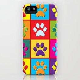 Pop Paw Prints iPhone Case