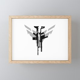 Ghost Recon: Breakpoint Assault Rifle (Light Grey) Framed Mini Art Print