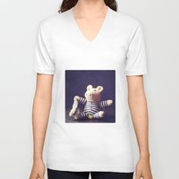 hug V-neck T-shirts featuring Hug by Sybille Sterk