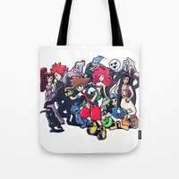 kingdom hearts Tote Bags featuring Kingdom Hearts by Jaimie Hutton