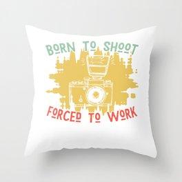 Photographer Work Throw Pillow