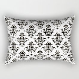 Damask Pattern | Black and White Rectangular Pillow