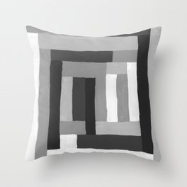Painted Color Blocks Throw Pillow