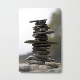 West Coast Inukshuk with Bokeh  #decor #society6 #buyart Metal Print