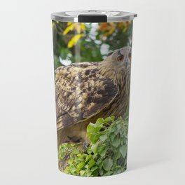 The owl is watching you Travel Mug