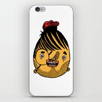 ferrari iPhone & iPod Skins featuring Freddie Ferrari by crapAdoodle