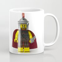 gladiator Mugs featuring Roman gladiator Minifig by Jarod Pulo