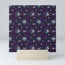 Vintage Florals - Purple Mini Art Print