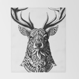 Ornate Buck Throw Blanket