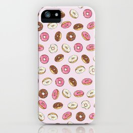 ALL the donuts! Rainbow on Pink iPhone Case