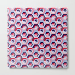 Pattern graphic cubes Metal Print