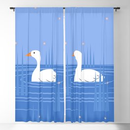Breathe - Blue Blackout Curtain