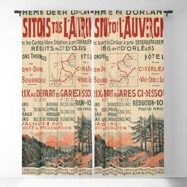 Vintage French Travel Poster: Visit Auvergne (1900s) Blackout Curtain