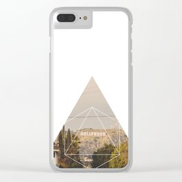 Hollywood Sign - Geometric Photography Clear iPhone Case