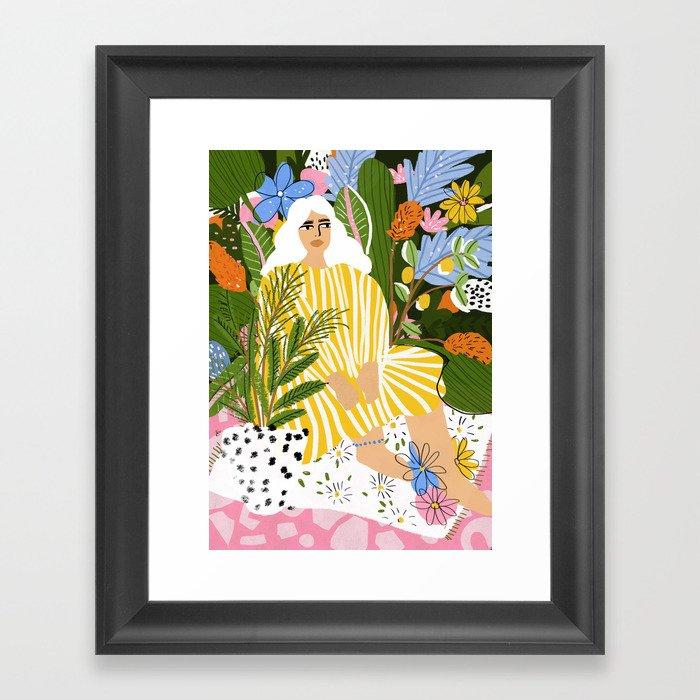The Jungle Lady Gerahmter Kunstdruck