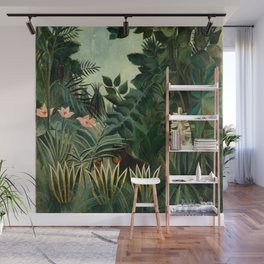 The Equatorial Jungle - Henri Rousseau Wall Mural