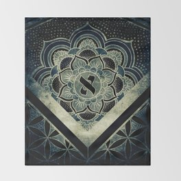 Sacred Geometry for your daily life - ESOTERIC ALEPH KYBALION EYE Throw Blanket