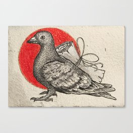 A carrier pigeon Canvas Print