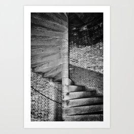fort point stair case Art Print