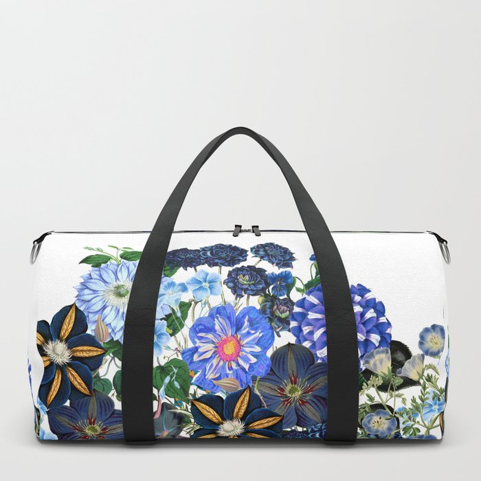 Vintage & Shabby Chic - Blue Flower Summer Meadow Duffle Bag