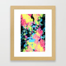 Blacklight Neon Swirl Framed Art Print