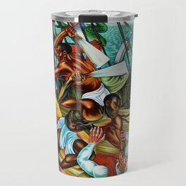 "African American Classical Masterpiece ""The Mutiny on the Amistad"" by Hale Woodruff Travel Mug"
