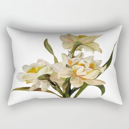 Double Narcissi Spring Flower Bouquet Rectangular Pillow