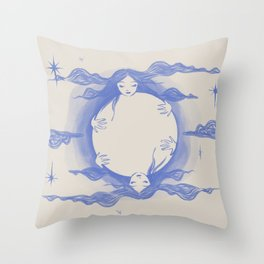 Moon Love Throw Pillow