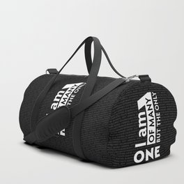 """""""I am One of many but the Only One"""" (Black) Duffle Bag"""