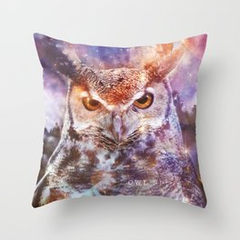 Owl Spirit Animal - Shamanic Power Animal  Throw Pillow