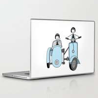 vespa Laptop & iPad Skins featuring Vespa by flapper doodle