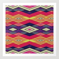 native Art Prints featuring native by spinL