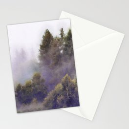 Foggy forest watercolor painting #2 Stationery Cards
