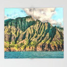 2016 Na' Pali Coast, Kauai, Hawaii Throw Blanket