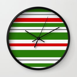 Candy Cane Lane Racer Stripe Wall Clock