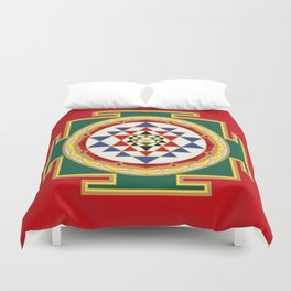 Sri Yantra colored Duvet Cover