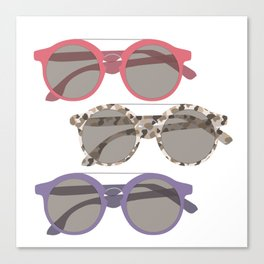 Three Sunglasses Warm Canvas Print